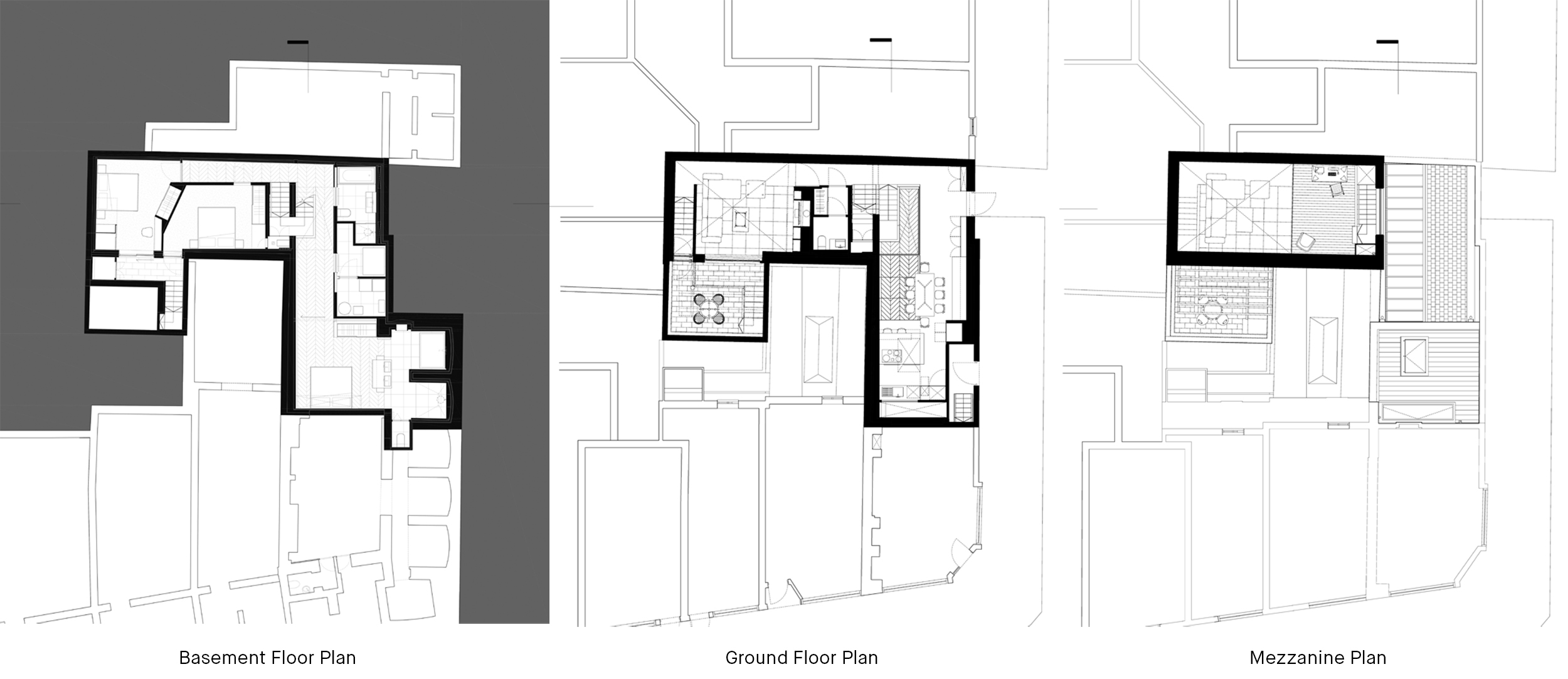 Hidden House Chelsea Knightsbridge LTS Architects drawings