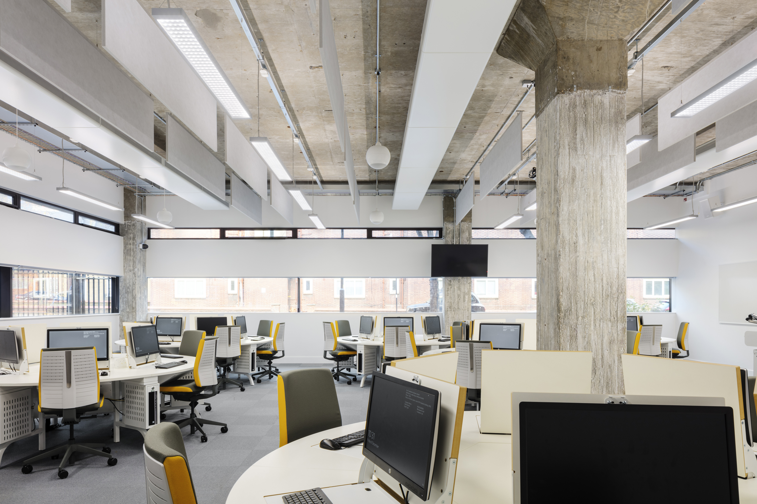 LTS Architects Drysdale City University Study Space Retractable screens shown