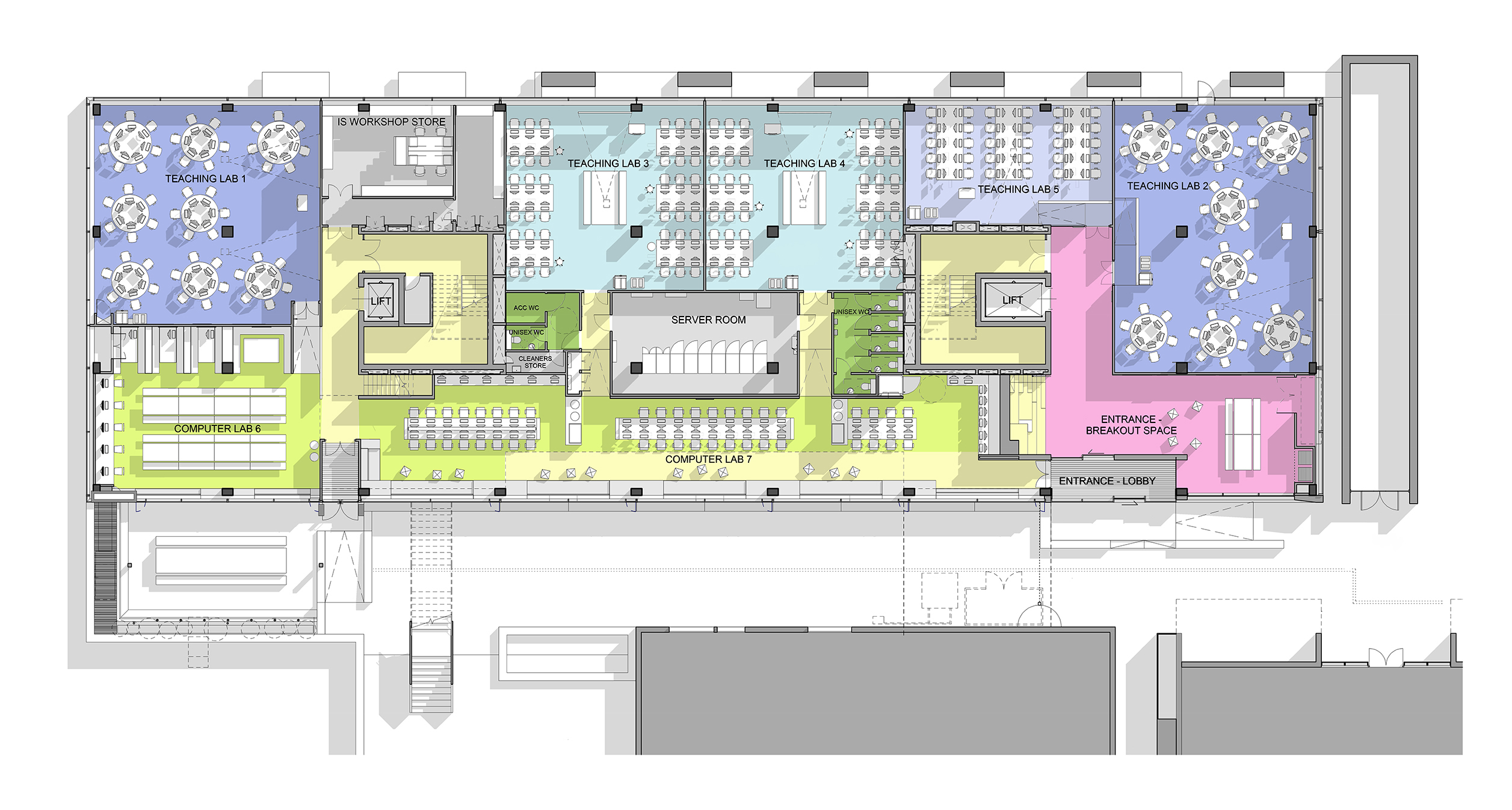 LTS Architects Drysdale City University Plan Ground Floor