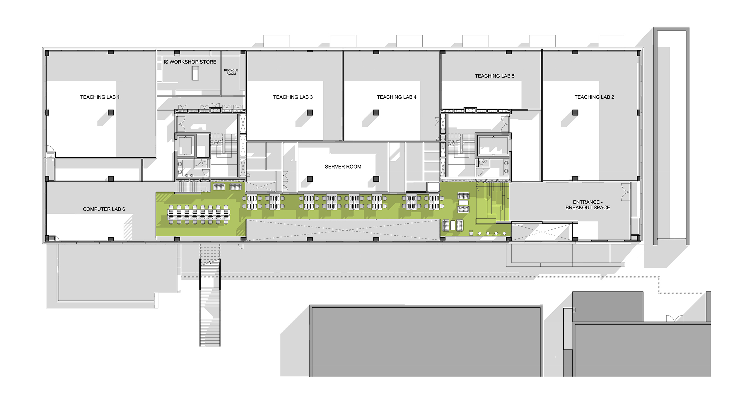 LTS Architects Drysdale City University Plan First Floor